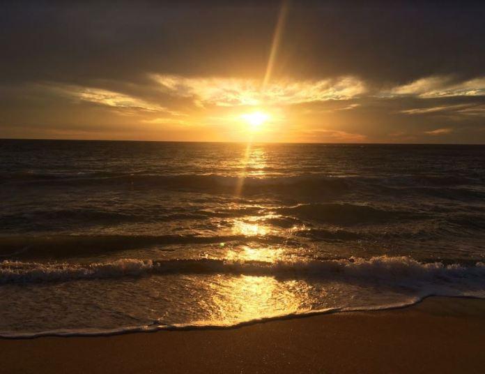 My first Australian sunset- taken on Florida Beach, Dawesville