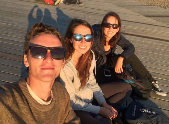 Watching sunsets with my German friends